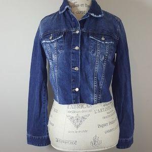 Zara NWT cropped jean jacket size L